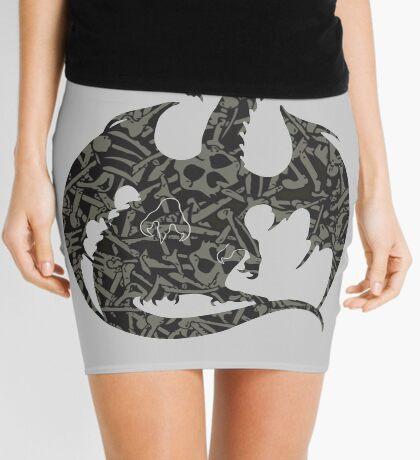 Necromancy Dragon Silhouette Mini Skirt