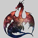 Galaxy Dragon Silhouette by ferinefire