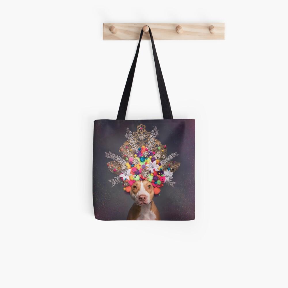 Pit Bull Flower Power, Frida Tote Bag