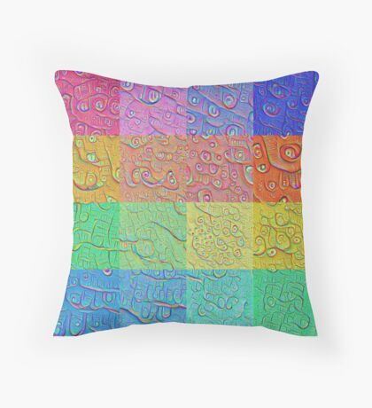 Deep Dreaming of a Color World Throw Pillow