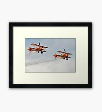 Breitling Wing Walking display Framed Print
