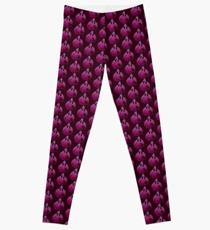 Pink Purple Dragon Silhouette Leggings