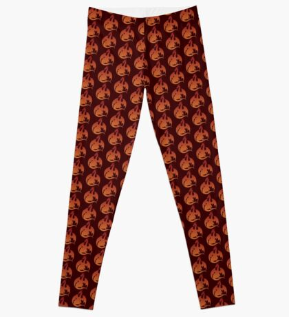 Red Orange Dragon Silhouette Leggings