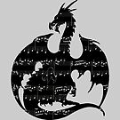 Music Dragon Silhouette by ferinefire