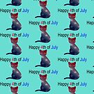4th of July cat by Josie31