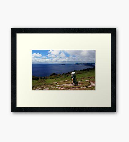 Looe Bay, Cornwall Framed Print