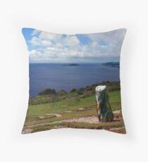 Looe Bay, Cornwall Throw Pillow