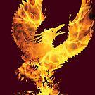 Phoenix Fire Silhouette by ferinefire