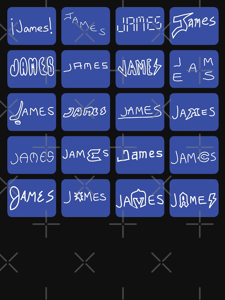 "Helden der Quizshows: James Holzhauer, ""James! Names"" (Shirt) von countercolour"