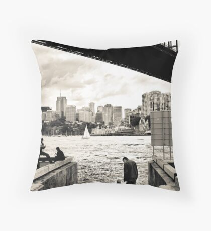 At The Harbours Edge Throw Pillow