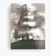 Sailing in the storm Metal Print