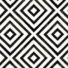 Inky Diamond Pattern by latheandquill
