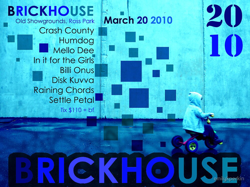 Brickhouse Dance Party Flyer by emilykperkin