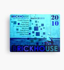 Brickhouse Dance Party Flyer Metal Print