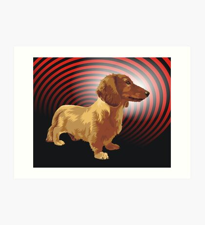 George dachshund Art Print
