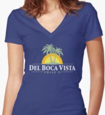 Del Boca Vista - Retirement Community Women's Fitted V-Neck T-Shirt