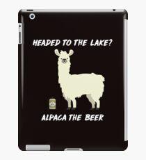 Funny Lake-producten - Alpaca-ontwerpen - Bier Drinken grafische print iPad-Hülle & Klebefolie