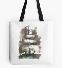 Sailing in the storm Tote Bag