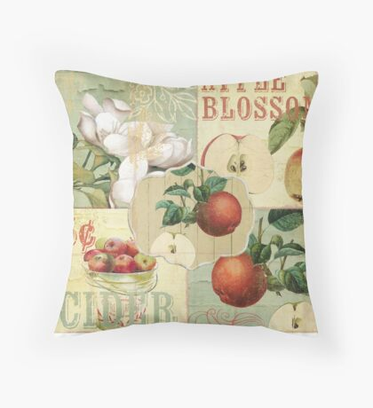 Apple Blossoms IV Throw Pillow