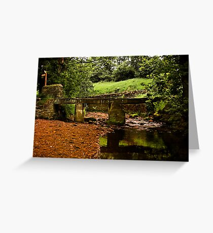 Old Wycoller Bridge Greeting Card