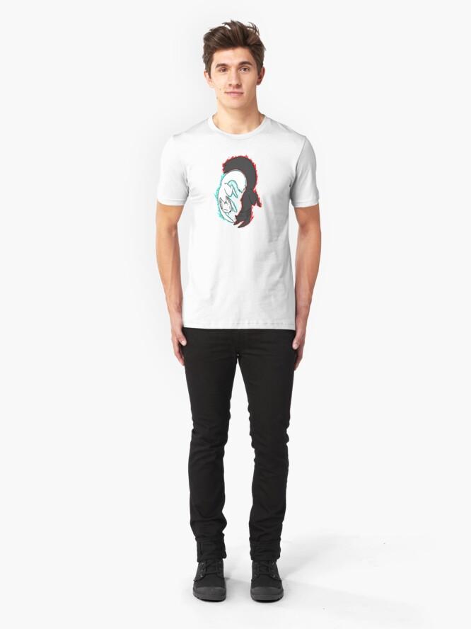 Vista alternativa de Camiseta ajustada Zorro de llamas gemelas!