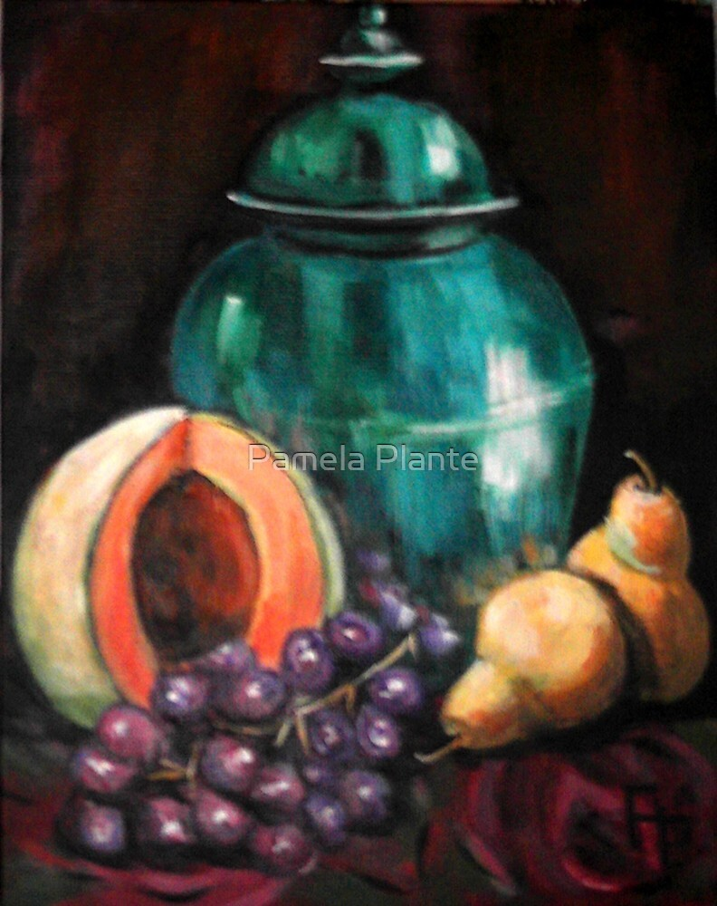 Turquoise Jar Still Life by Pamela Plante