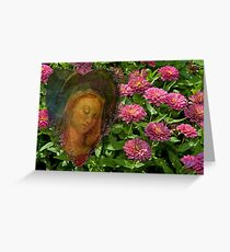 Hail Mary, pray for us . . . Greeting Card