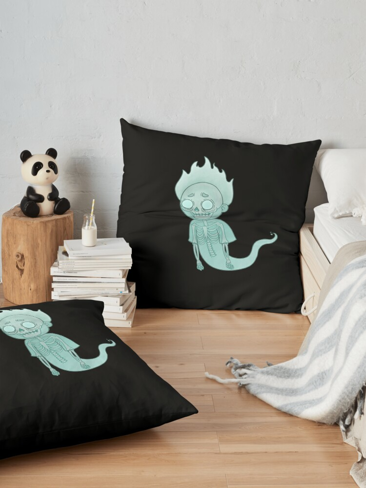Alternate view of Ghost Morty Floor Pillow
