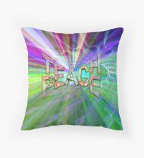 Teach Peace and Light Throw Pillow