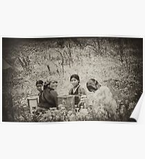 Girls in a Field Poster