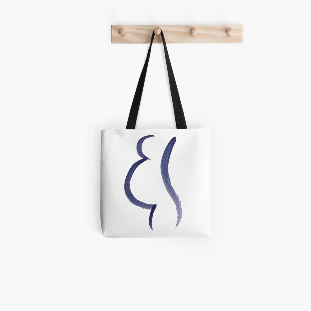 Purple Mama Outline Painting Tote Bag