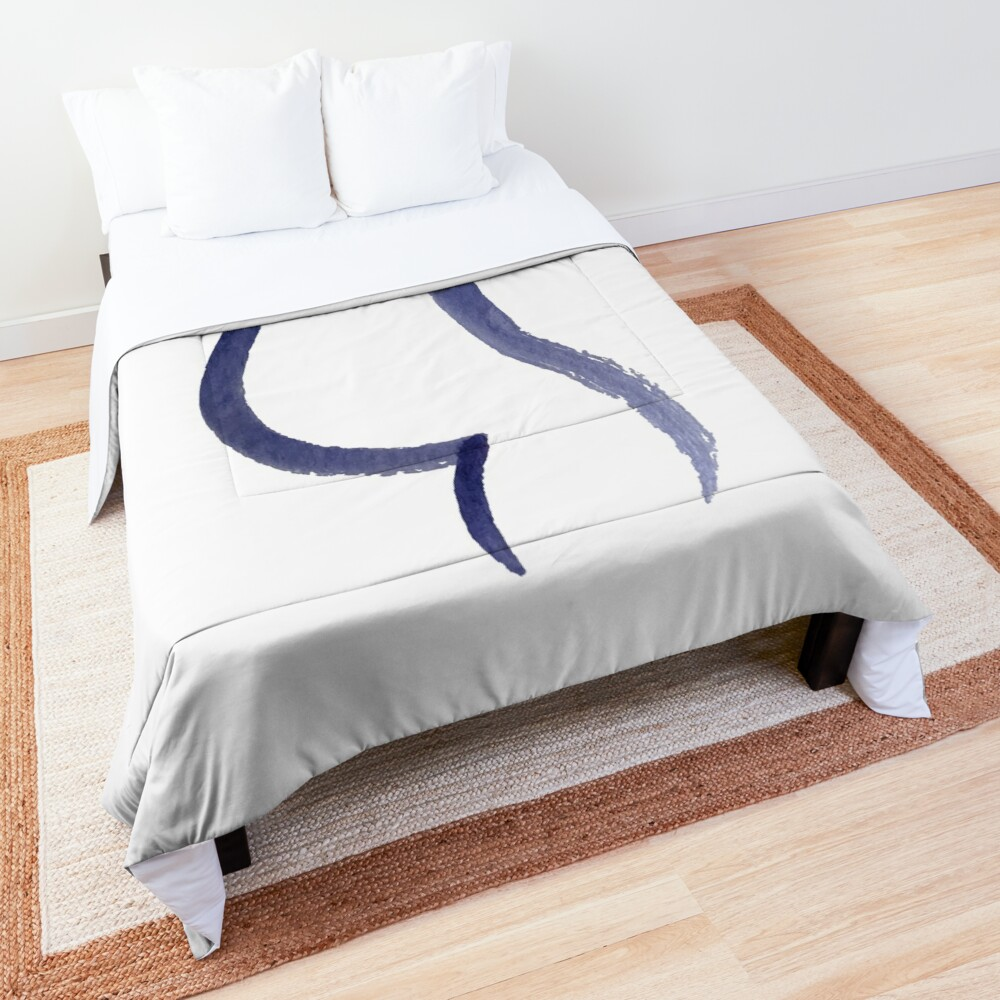 Purple Mama Outline Painting Comforter