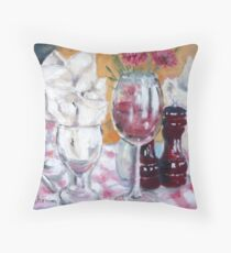 Fine Dining Throw Pillow