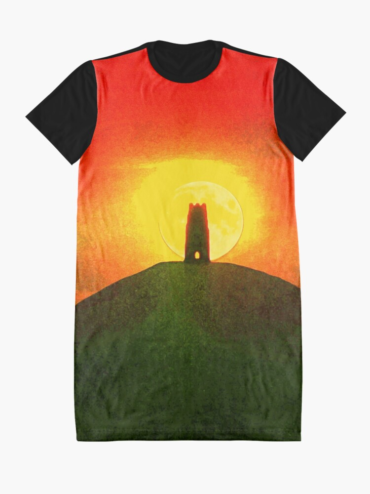 Alternate view of GLASTONBURY TOR SUNSET Graphic T-Shirt Dress