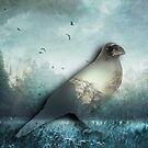 the Raven - double exposure by Dirk Wuestenhagen