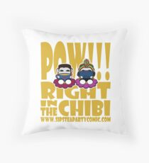 STPC: Pow!!! Right in the Chibi 2.0 Throw Pillow