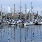 boats in Port Vell, Barcelona by monkeyferret