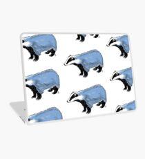 Blue Badger Laptop Skin