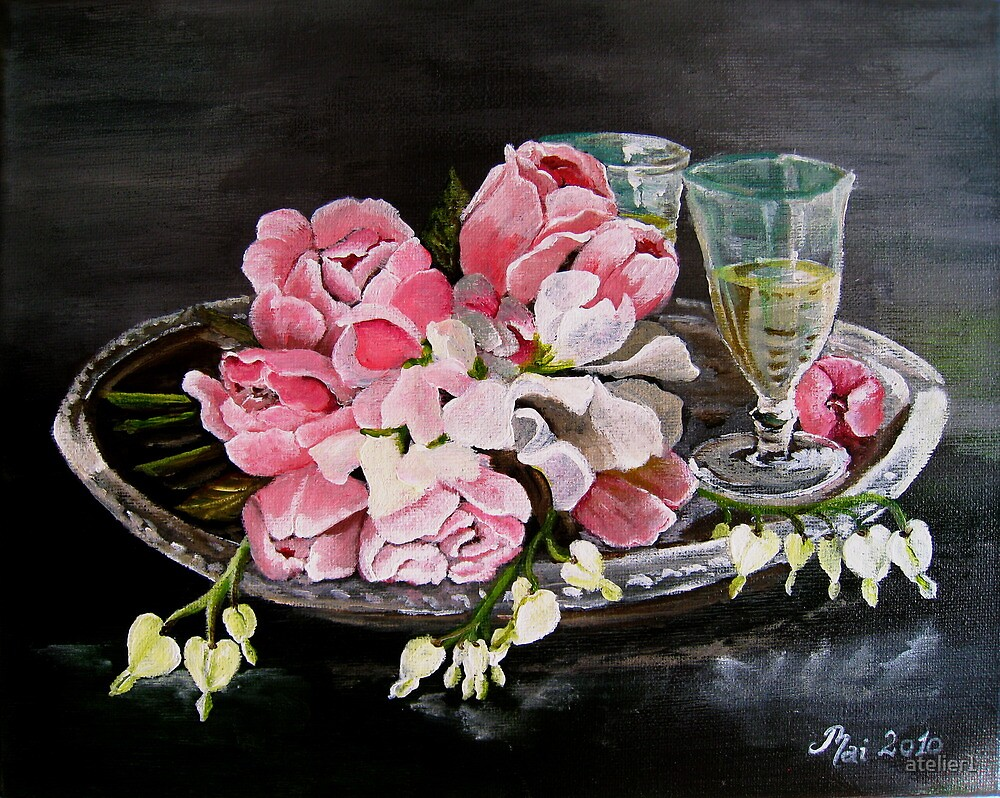 Roses and Lathyrus by atelier1