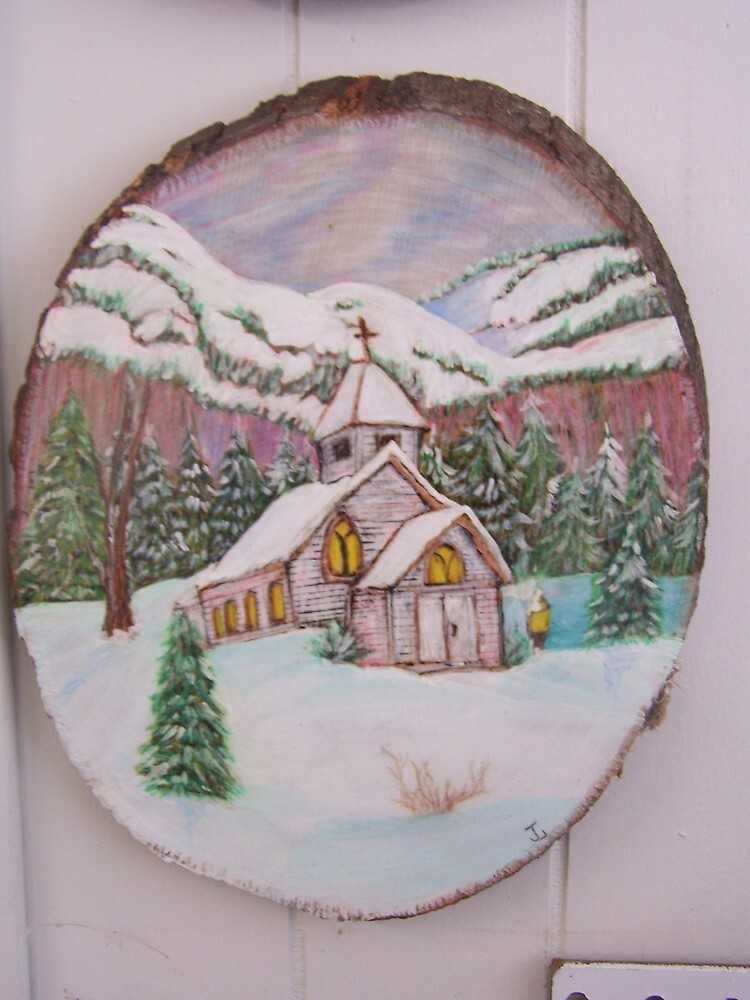 Country Church in Winter by judykay