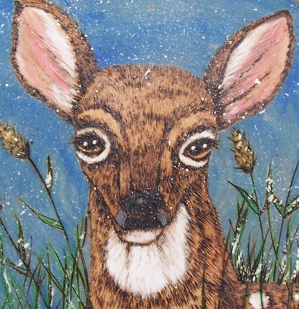 Deer in Winter by judykay