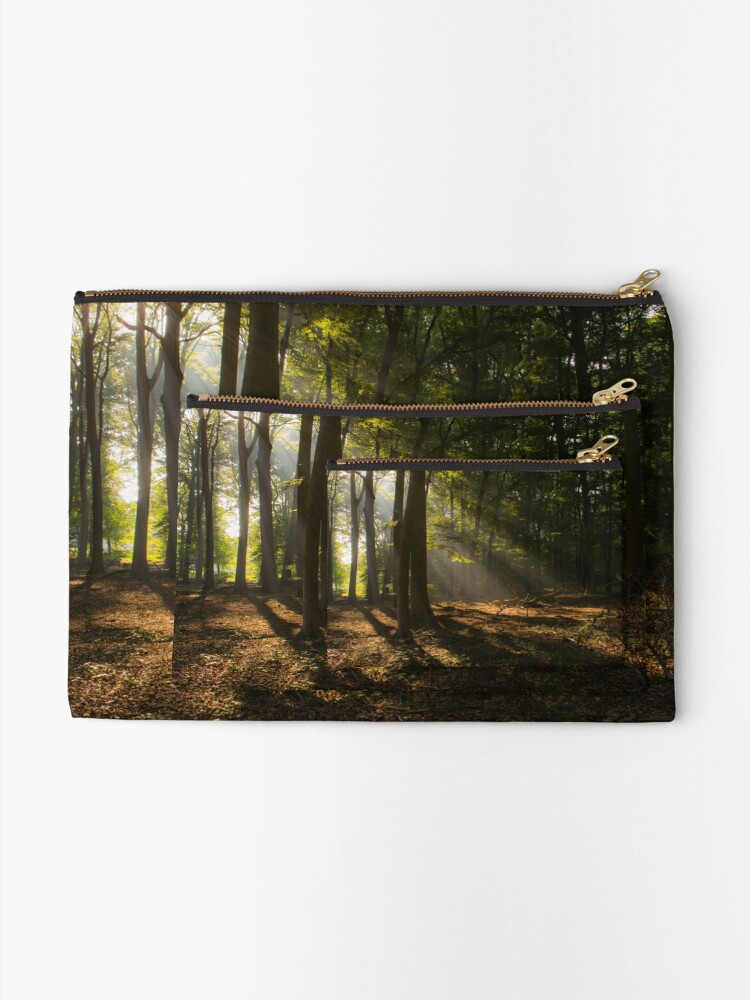 Alternate view of Golden Sunrise Forest Zipper Pouch
