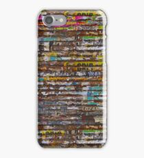 Scratched advertising iPhone Case/Skin