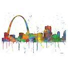 Gateway Arch, St. Louis, Missouri Skyline von Marlene Watson