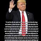 """Donald Trump """"Der Mann in der Arena"""" von Irisangel"""
