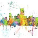Jersey City, New-Jersey Skyline von Marlene Watson