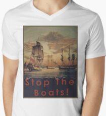 STOP THE BOATS! Men's V-Neck T-Shirt