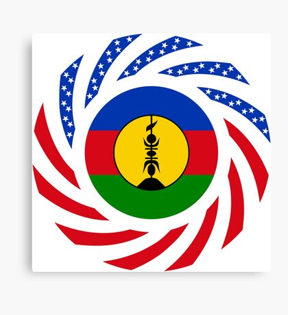 New Caledonian American Multinational Patriot Flag Series Canvas Print