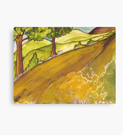 Golden Road Canvas Print