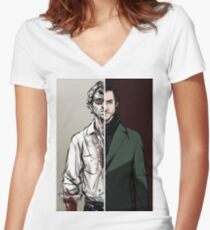 The Tables Are Turning - Will Variant Women's Fitted V-Neck T-Shirt